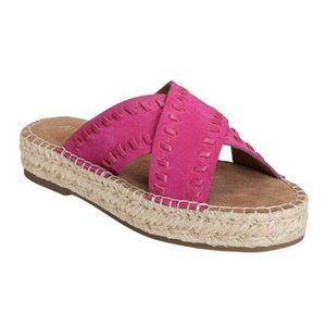 NIB Aerosoles Rose gold espadrille sandals. 10M